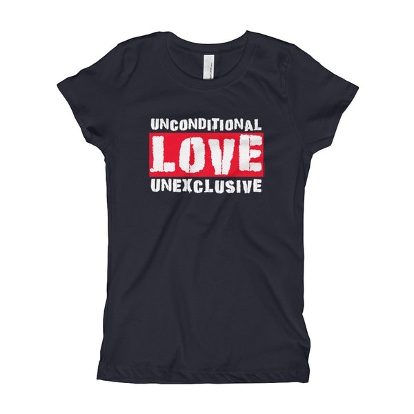 Unconditional Love Unexclusive Family Unity Peace Girl's Princess T-Shirt + House Of HaHa