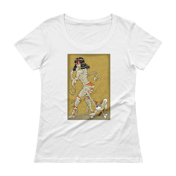 Mummy Pin-Up Ladies' Scoopneck T-Shirt + House Of HaHa Best Cool Funniest Funny Gifts