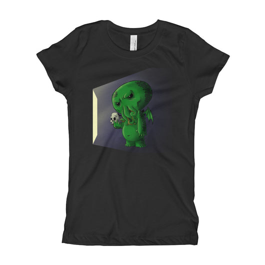 Midnight Snack Chibi Cthulhu Girl's Princess T-Shirt + House Of HaHa Best Cool Funniest Funny T-Shirts