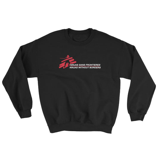 Ninjas without Borders Martial Arts Ninjutsu Fighter Men's Sweatshirt + House Of HaHa