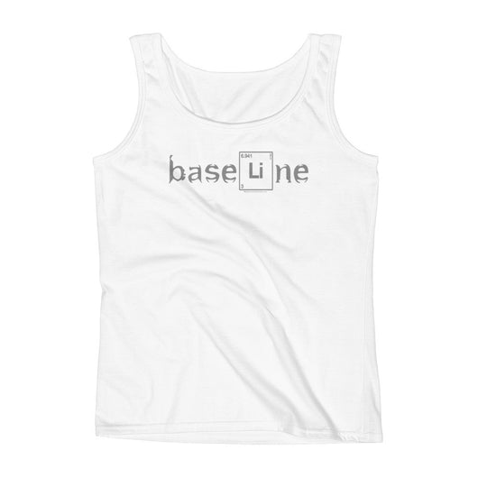 BaseLine Lithium Bipolar Awareness Ladies' Tank Top + House Of HaHa Best Cool Funniest Funny T-Shirts