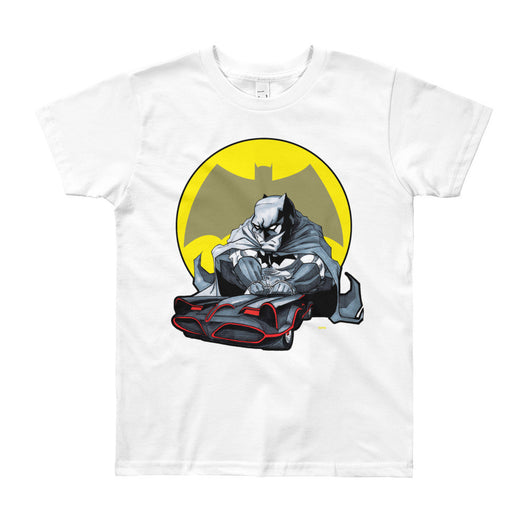 Lil' Batmobile Youth Short Sleeve Kid's T-Shirt - Made in USA + House Of HaHa