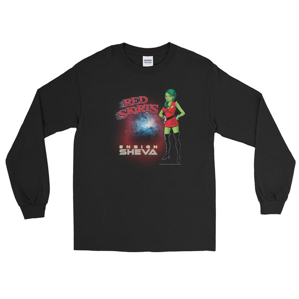 Red Skirts: Ensign Sheva  Men's Long Sleeve T-Shirt + House Of HaHa Best Cool Funniest Funny Gifts