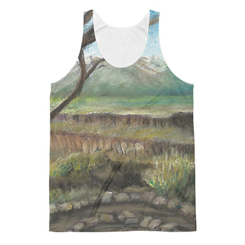 Rio Grande Del Norte National Monument New Mexico Unisex Classic Fit Tank Top by Melody Gardy + House Of HaHa Best Cool Funniest Funny Gifts