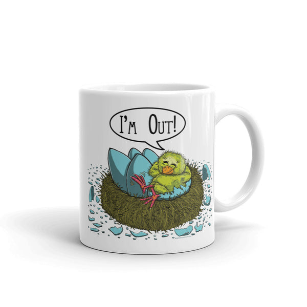 I'm Out! Mug + House Of HaHa Best Cool Funniest Funny T-Shirts