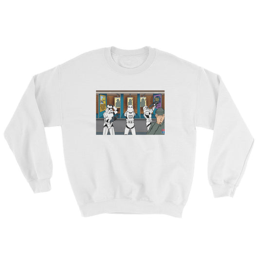 Troopers Shooting Gallery Parody Mens' Sweatshirt + House Of HaHa