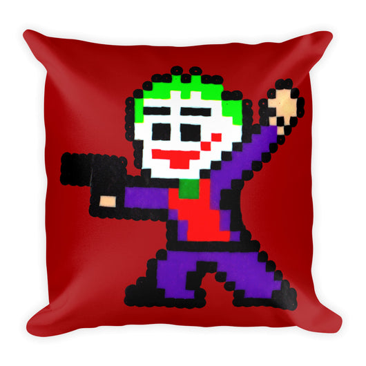 Joker Perler Art Square Pillow by Silva Linings + House Of HaHa Best Cool Funniest Funny T-Shirts