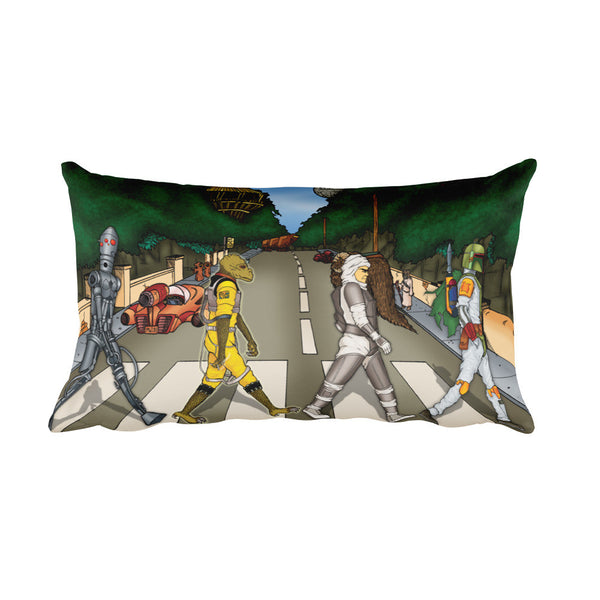 Bounty Road Street View Beatles Star Wars Mash Up Parody Rectangular Pillow + House Of HaHa Best Cool Funniest Funny T-Shirts