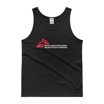 Ninjas without Borders Martial Arts Ninjutsu Fighter Men's Tank Top + House Of HaHa Best Cool Funniest Funny Gifts
