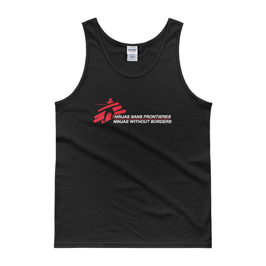 Ninjas without Borders Martial Arts Ninjutsu Fighter Men's Tank Top + House Of HaHa