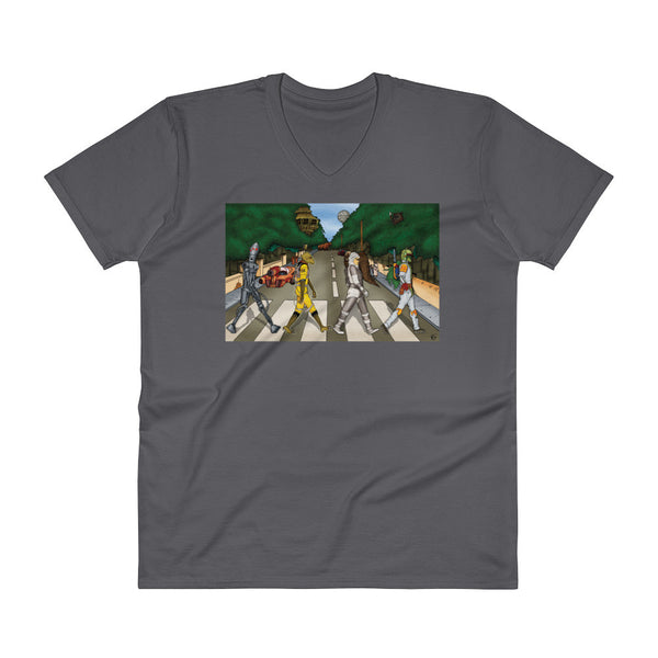 Bounty Road Street View Beatles Star Wars Mash Up Parody Men's V-Neck T-Shirt + House Of HaHa Best Cool Funniest Funny Gifts