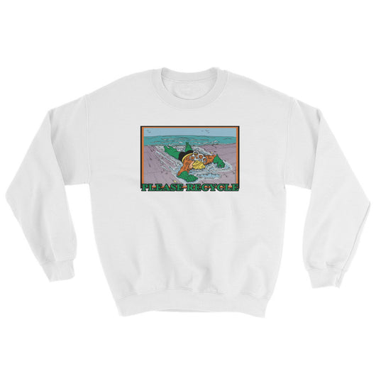 Please Recycle Men's Aquaman Parody Sweatshirt + House Of HaHa