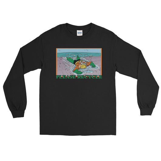 Please Recycle Men's Long Sleeve Aquaman Parody T-Shirt + House Of HaHa