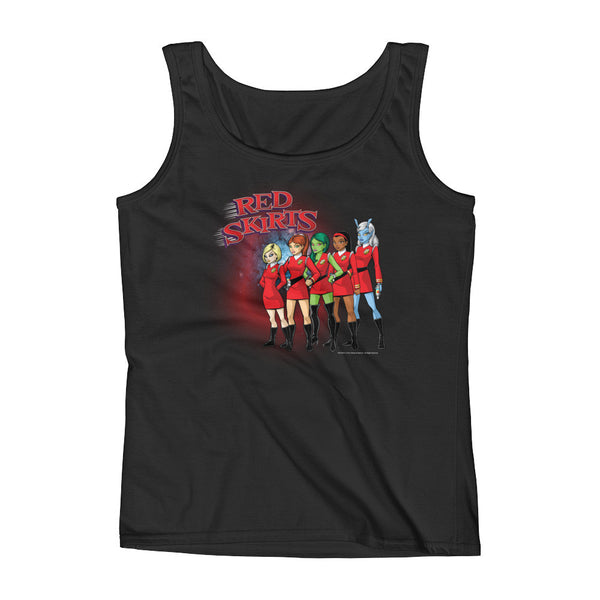 Red Skirts Security Team Ladies' Tank Top + House Of HaHa Best Cool Funniest Funny T-Shirts