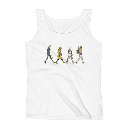 Bounty Road's Fab Four Beatles Star Wars Mash Up Parody Ladies' Tank Top + House Of HaHa Best Cool Funniest Funny T-Shirts