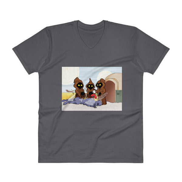 Weenie Roast Men's V-Neck T-Shirt + House Of HaHa
