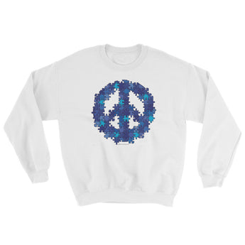 Puzzle Peace Sign Autism Spectrum Asperger Awareness Sweatshirt + House Of HaHa Best Cool Funniest Funny Gifts