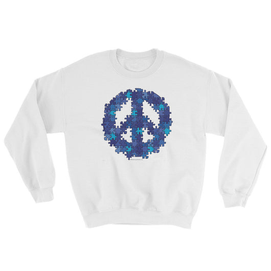 Puzzle Peace Sign Autism Spectrum Asperger Awareness Sweatshirt + House Of HaHa