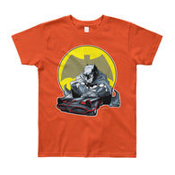 Lil' Batmobile Youth Short Sleeve Kid's T-Shirt - Made in USA + House Of HaHa Best Cool Funniest Funny T-Shirts