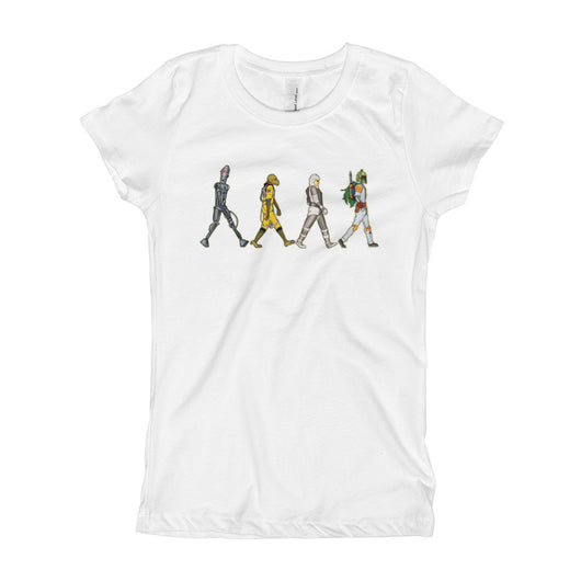 Bounty Road's Fab Four Beatles Star Wars Mash Up Parody Girl's Princess T-Shirt + House Of HaHa Best Cool Funniest Funny T-Shirts