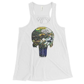 I'd Rather Be Punishing Women's Flowy Racerback Punisher Fishing Tank Top + House Of HaHa Best Cool Funniest Funny Gifts