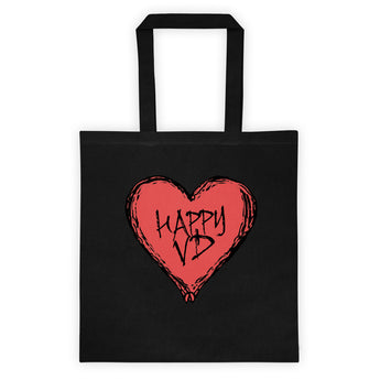 Happy VD Valentines Day Heart STD Holiday Humor Double Sided Print Tote Bag + House Of HaHa Best Cool Funniest Funny Gifts