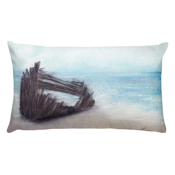 The Wreck of the Peter Iredale Oregon Rectangular Pillow by Melody Gardy + House Of HaHa Best Cool Funniest Funny Gifts