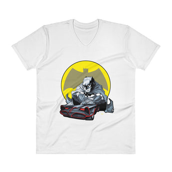 Lil Batmobile Men's V-Neck T-Shirt + House Of HaHa Best Cool Funniest Funny Gifts