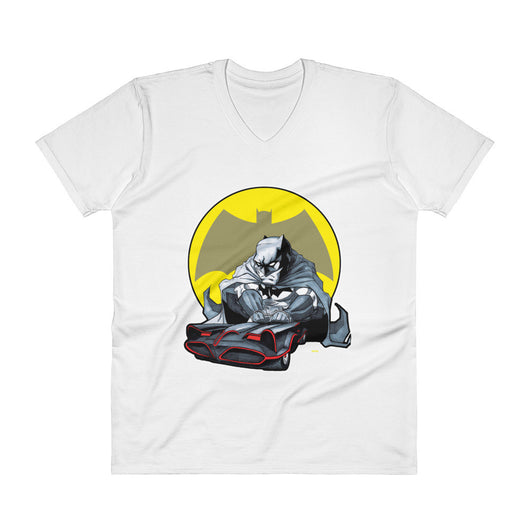Lil Batmobile Men's V-Neck T-Shirt + House Of HaHa Best Cool Funniest Funny T-Shirts