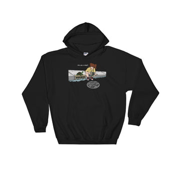 April in New York TMNT Are You a Ninja? Sewer Turtle Men's Heavy Hooded Hoodie Sweatshirt + House Of HaHa Best Cool Funniest Funny Gifts
