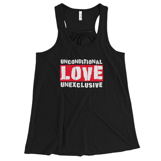 Unconditional Love Unexclusive Family Unity Peace Women's Flowy Racerback Tank + House Of HaHa