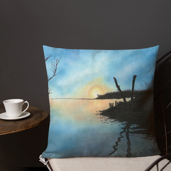Sand Lake Estuary Premium Decorative Throw Pillow