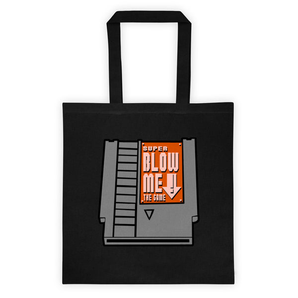 Super Blow Me Nintendo Cartridge Advice Double Sided Print Tote Bag + House Of HaHa Best Cool Funniest Funny Gifts