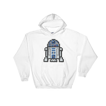 R2-D2 Perler Art Hooded Sweatshirt by Aubrey Silva + House Of HaHa Best Cool Funniest Funny Gifts