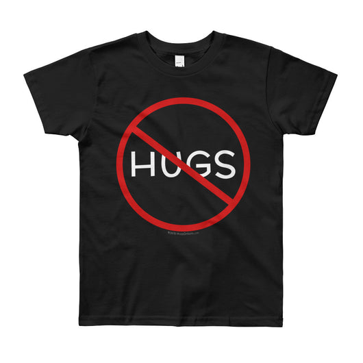 No Hugs Don't Touch Me Introvert Personal Space PSA Youth Short Sleeve T-Shirt + House Of HaHa