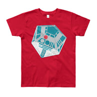 R2-D20 Star Wars Twenty Sided Gaming Die Youth Short Sleeve T-Shirt - Made in USA + House Of HaHa