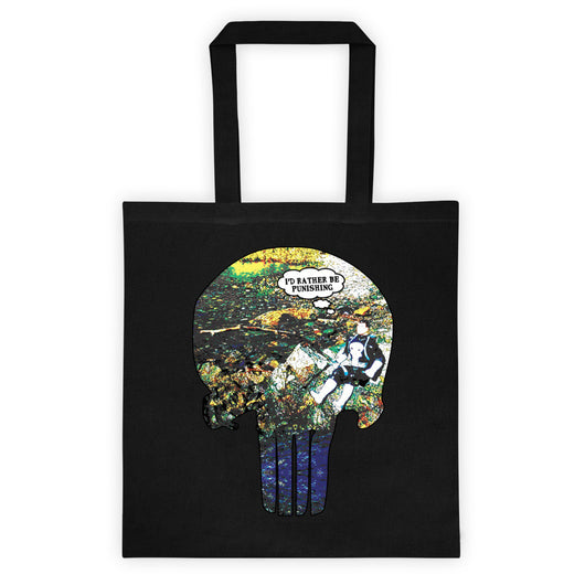 I'd Rather Be Punishing Punisher Fishing Parody Double Sided Print Tote bag + House Of HaHa