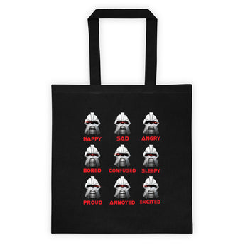 Moods Cylon Emotion Chart Mashup Parody Tote Bag + House Of HaHa Best Cool Funniest Funny Gifts