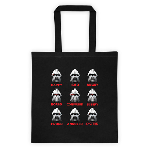 Moods Cylon Emotion Chart Mashup Parody Tote Bag + House Of HaHa Best Cool Funniest Funny T-Shirts