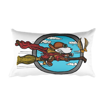Wizard Flying Ace Rectangular Pillow + House Of HaHa Best Cool Funniest Funny Gifts