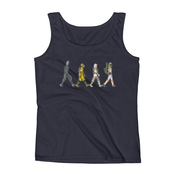Bounty Road's Fab Four Beatles Star Wars Mash Up Parody Ladies' Tank Top + House Of HaHa Best Cool Funniest Funny Gifts