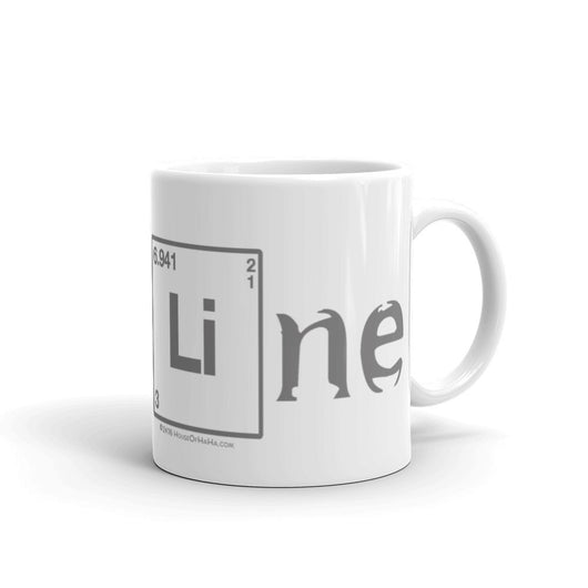 BaseLine Lithium Bipolar Awareness Ceramic Coffee Mug + House Of HaHa Best Cool Funniest Funny T-Shirts