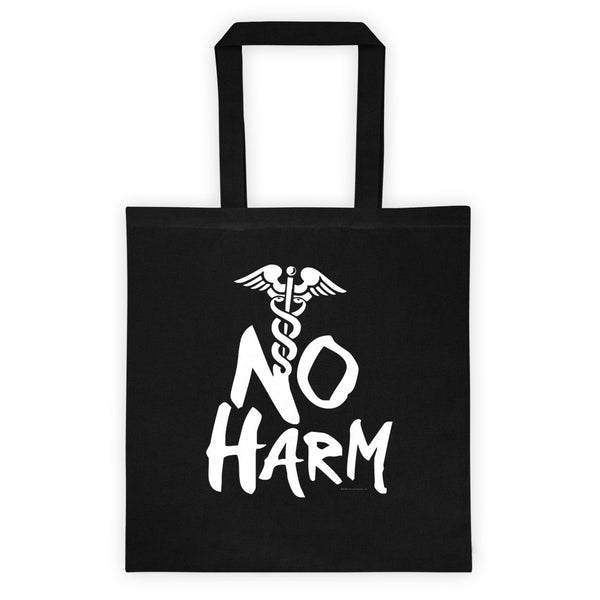 No Harm Caduceus EMT Paramedic Medical Symbol Tote Bag + House Of HaHa