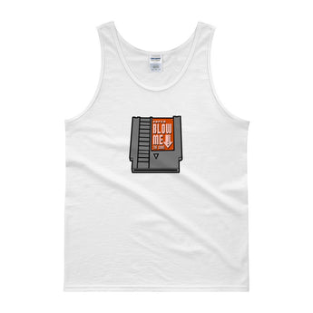 Super Blow Me Nintendo Cartridge Parody Tank Top + House Of HaHa Best Cool Funniest Funny Gifts