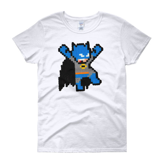 Batman Perler Art Women's Short Sleeve T-shirt  by Silva Linings + House Of HaHa Best Cool Funniest Funny T-Shirts