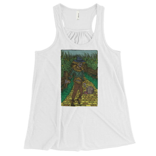 Walkers Of Oz: Zombie Wizard of Oz Cornfield Parody  Women's Flowy Racerback Tank Top + House Of HaHa Best Cool Funniest Funny T-Shirts