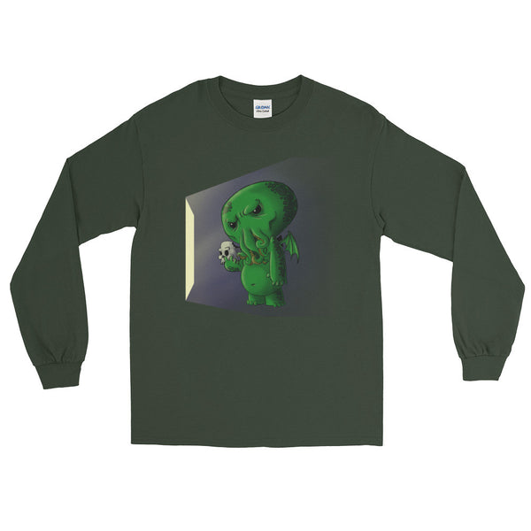 Midnight Snack Chibi Cthulhu Men's Long Sleeve T-Shirt + House Of HaHa
