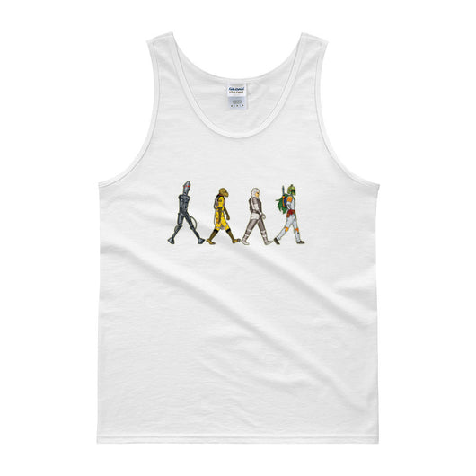 Bounty Road's Fab Four Beatles Star Wars Mash Up Parody Men's Tank Top + House Of HaHa Best Cool Funniest Funny T-Shirts