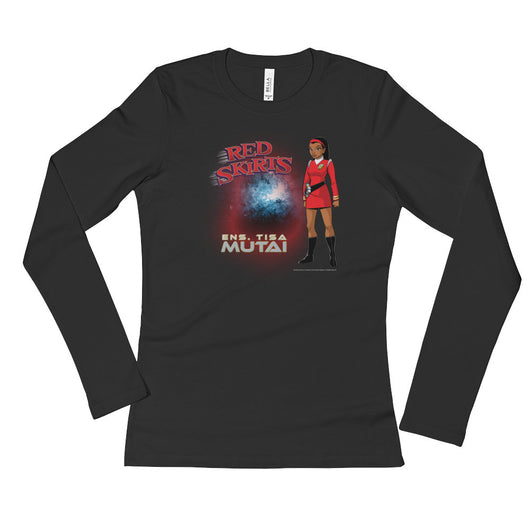 Red Skirts: Ensign Mutai  Ladies' Long Sleeve T-Shirt + House Of HaHa