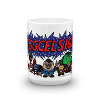 Eggcelsior! Marvel's Avengers Stan Lee Parody Portrait Excelsior Mug + House Of HaHa Best Cool Funniest Funny T-Shirts